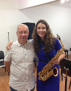 Anna Marie Wytko with Alain Crepin, Director of the Belgian Air Force Band