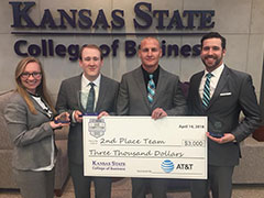 The K-State MBA team comprised of (from left to right) Dallas Gaither, Richard Petrie, Josh Barlow and Blair Kocher