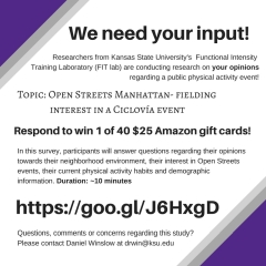Take the Open Streets Manhattan Survey for a chance to win a $25