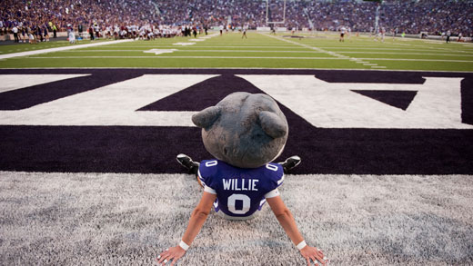 Willie at Bill Snyder Family Stadium
