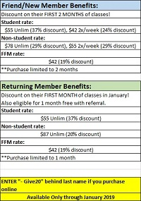 Membership Promotion Pricing