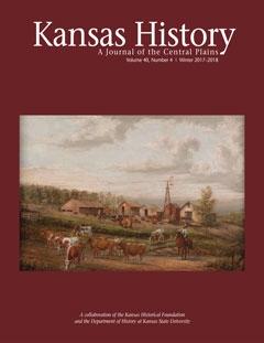 "Winter Issue Cover Page of ""Kansas History"""