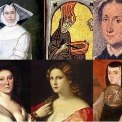 A collage of women composers