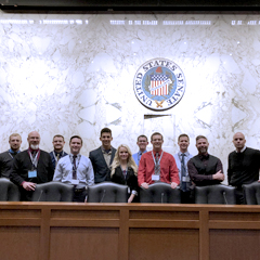 Kansas State Polytechnic students enrolled in an aviation legislation course visit the U.S. Senate during a recent trip to Washington, D.C.