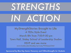 Strengths in Action Event Flyer
