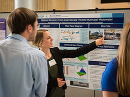 Bernadette Drouhard, senior in chemical engineering, took first place with her entry in the College of Engineering Undergraduate Research Poster Forum.