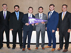 From left to right: Dan Minick, Timothy Lillis,Lawson Roberts, Alex Grey, Brock Steinert, Brandon Savage