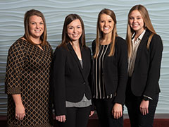 From left to right: Kellie Jackson, Kaitlyn Porter, Abbie O'Grady and Katie Horton
