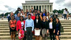 Loan and other Gilman Alumni Ambassadors at the Training in Washington D.C. this past summer.