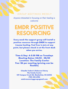 EMDR Positive Resourcing Group Flyer