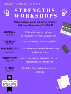 Strengths Workshops for Strengths Week 2019