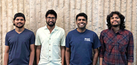 Computer science Secure-It-I research group, from left, Aditya Narkar, Joydeep Mitra, Venkatesh-Prasad Ranganath and Nasik Nafi