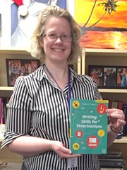 Ryane Englar poses with her latest published book