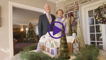 University President Richard and Mary Jo Myers' holiday video message.