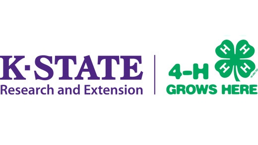 KSRE Kansas 4-H Grows Here logo