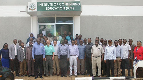 K-State veterinary faculty join a group from Sokoine University in Tanzania for a continuing education course