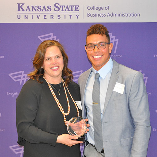 Executive Mentor of the year Jamie Borgman, with her mentee Denzel Goolsby