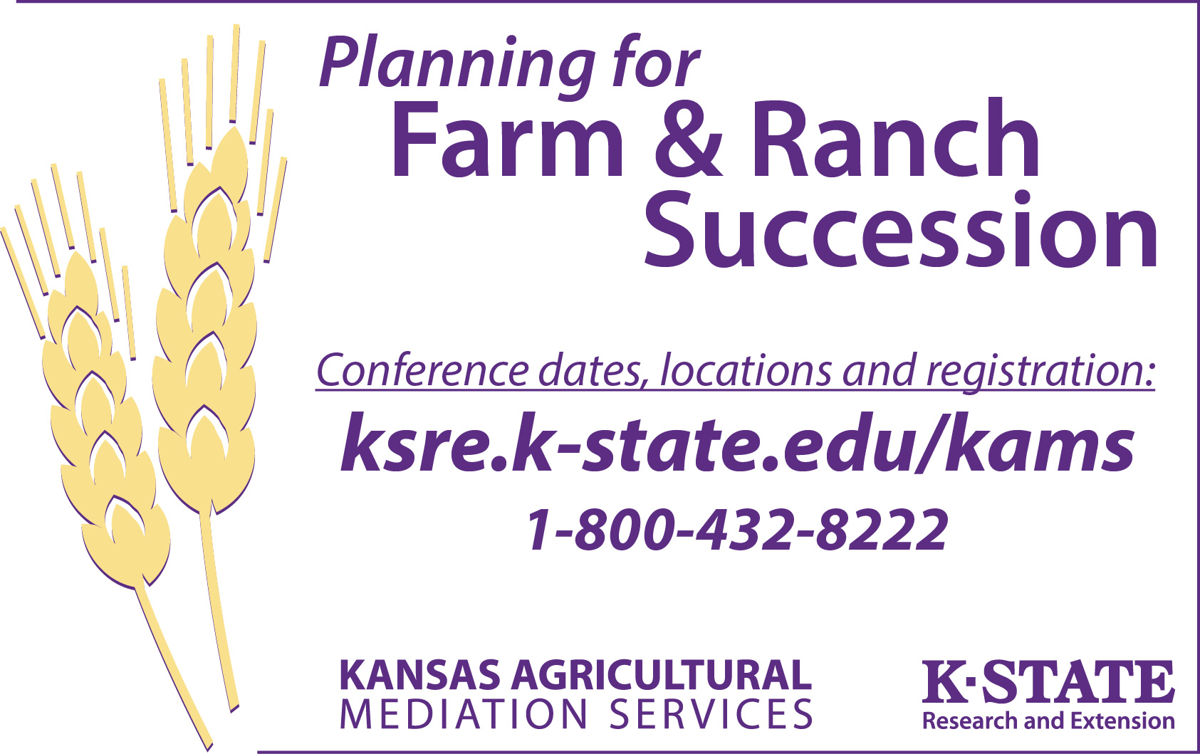 Planning for Farm & Ranch Succession Conferences
