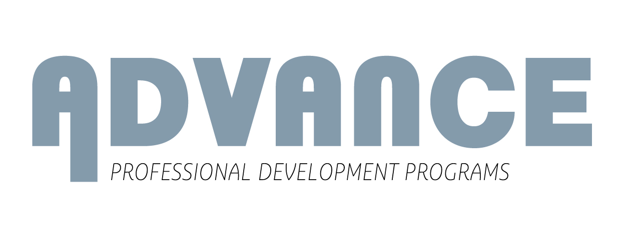 logo picture for advance. says advance professional development programs