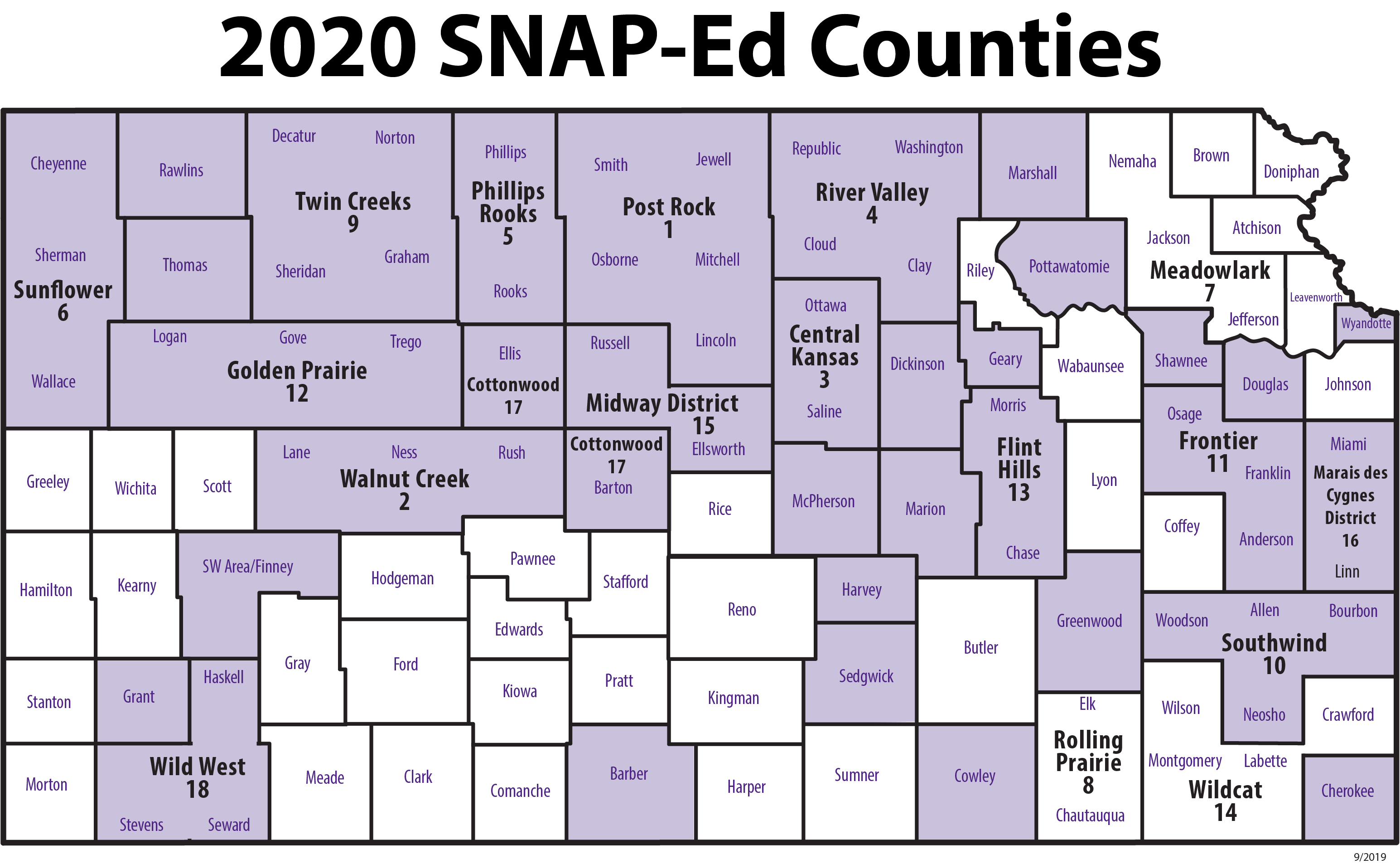 kansas-map-showing-counties-involved-with-SNAP-Ed-grant