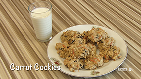 carrot cookies recipe picture