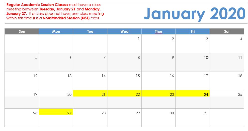 Spring 2020 Calendar Spring 2019 Visual Calendar