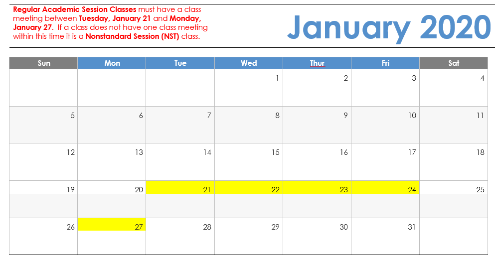 Ksu Fall 2020 Calendar Spring 2019 Visual Calendar