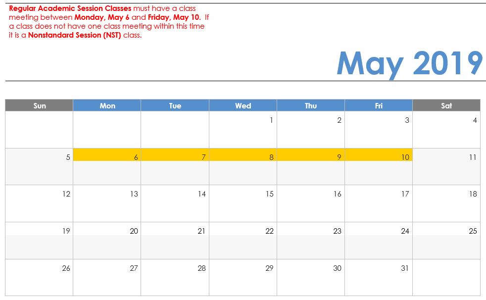 2019 Spring Break Calendar Spring 2019 Visual Calendar