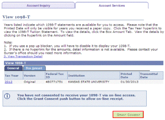 Access 1098t Tuition Statement Online