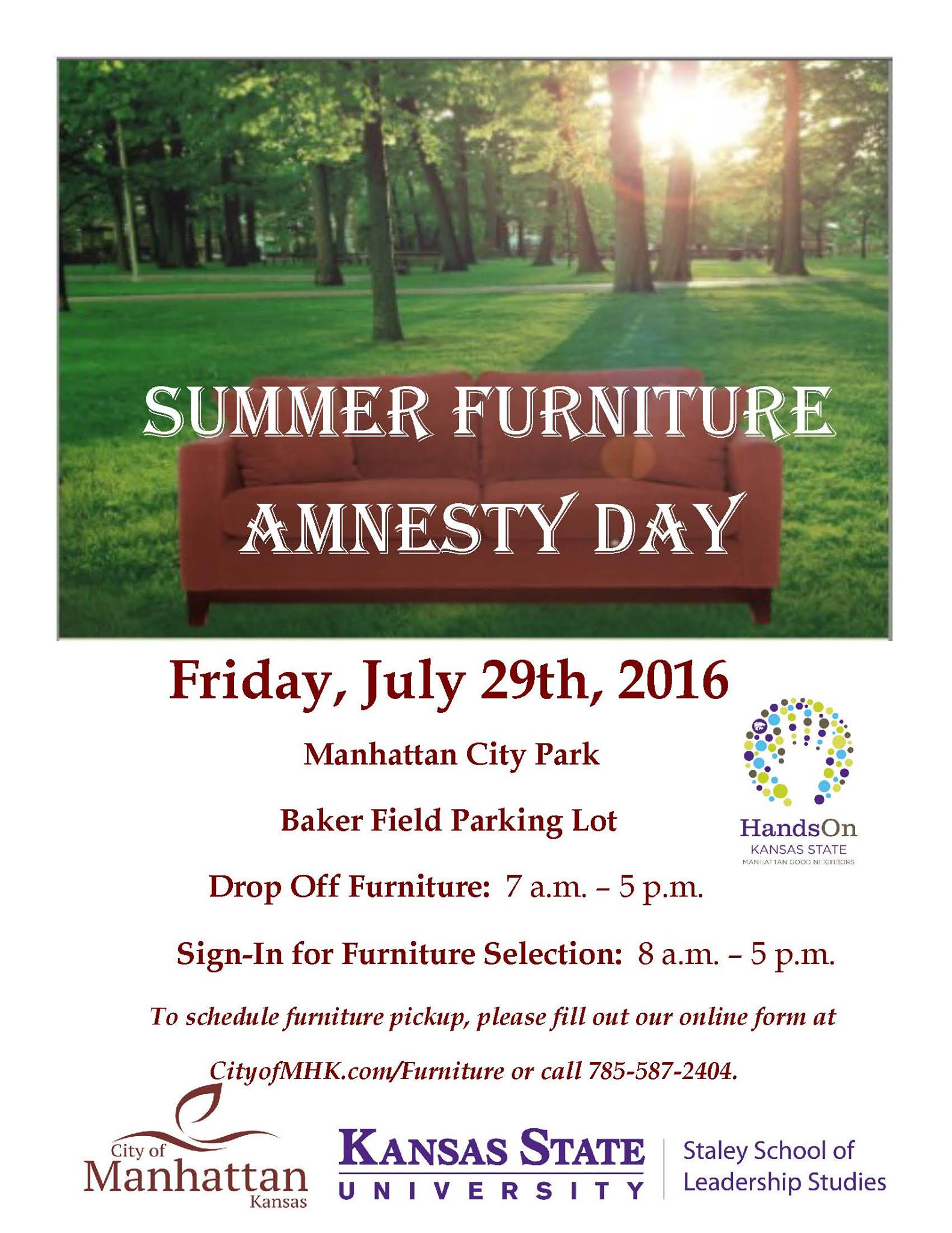 Furniture Amnesty Day 2016