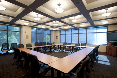 Our Building - Square conference room table