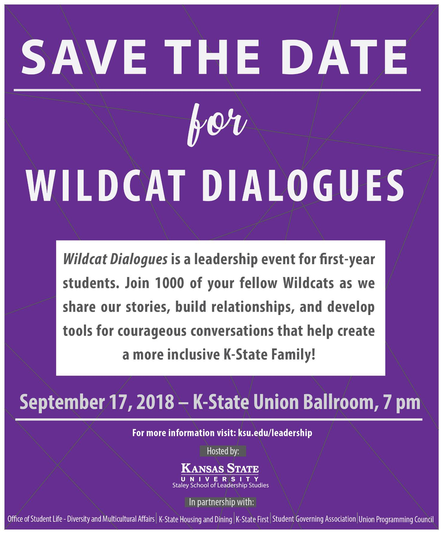 Wildcat Dialogues Save the Date Flyer