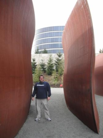 Brandon in Seattle Sculpture Park
