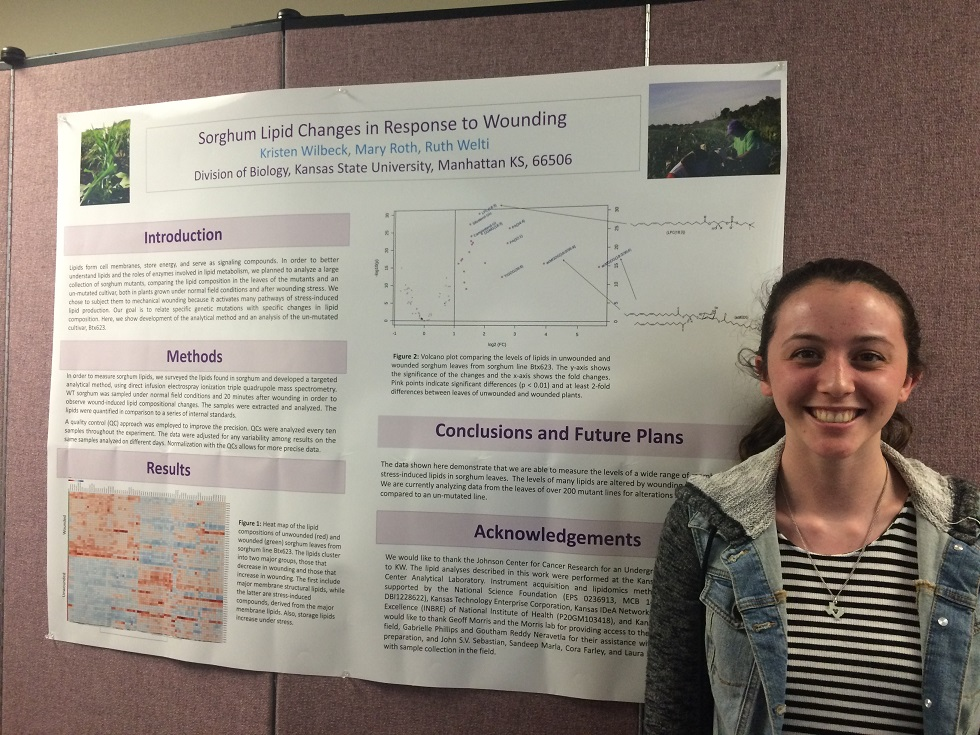 Kristen Wilbeck with her Research Poster