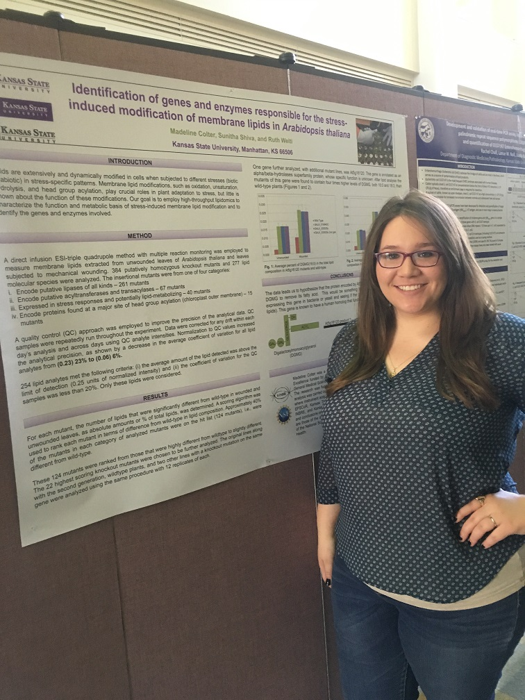 Madeline Colter with her Research Poster