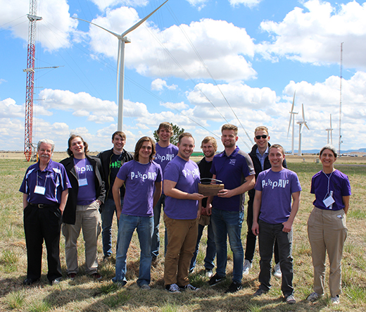 Members of the Wildcat Wind Power team