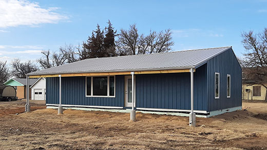 Students in Kansas State University's Net Positive Studio designed and assembled this zero energy home in St. John.