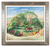 """Kansas Pasture"" by John Steuart Curry"