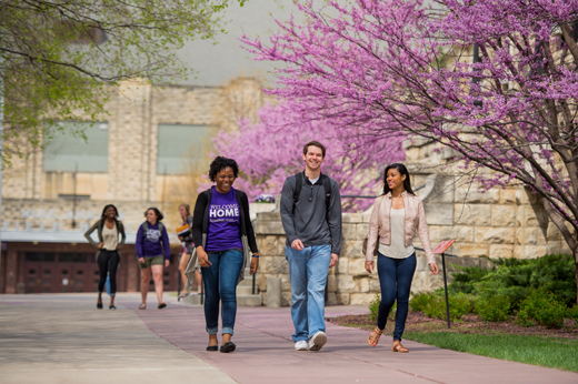 The Princeton Review ranked Kansas State University No. 4 for happiest students