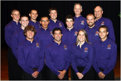 The officers and advisers of the student chapter of the Associated General Contractors.