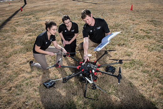 Kansas State University Polytechnic Campus offers scholarships for first responders interested in UAS flight training.