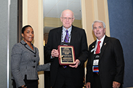 David Stewart accepts Council of College and Military Educators Institution Award