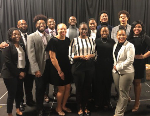 A small delegation of Kansas State University's Black Student Union