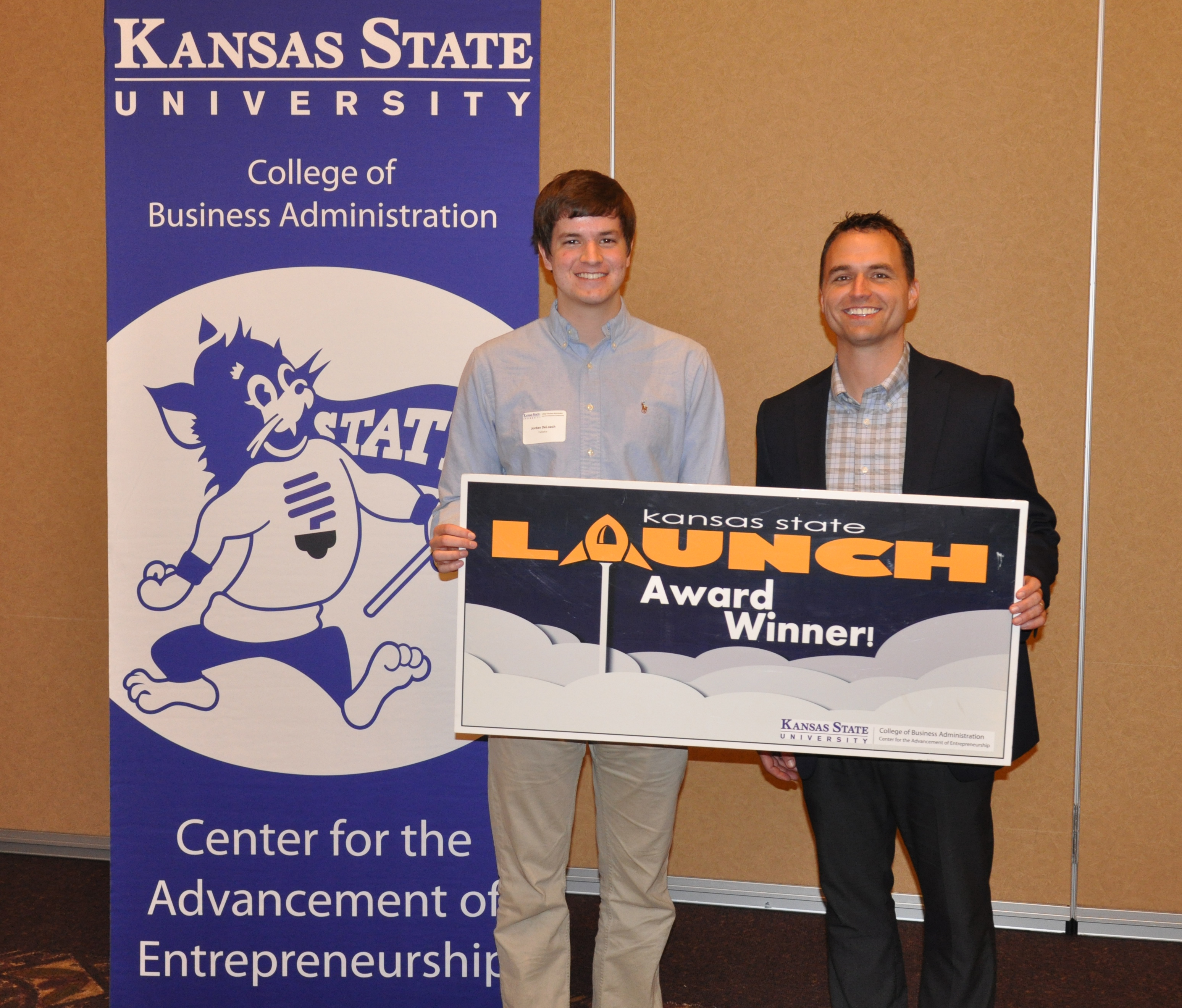 k state launch awards to student entrepreneurs kansas this photo