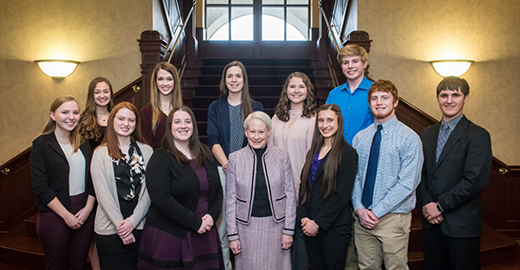 Finalists for Kansas State University's Kassebaum Scholarship.