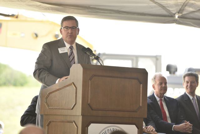 Schulz speaking at NBAF groundbreaking