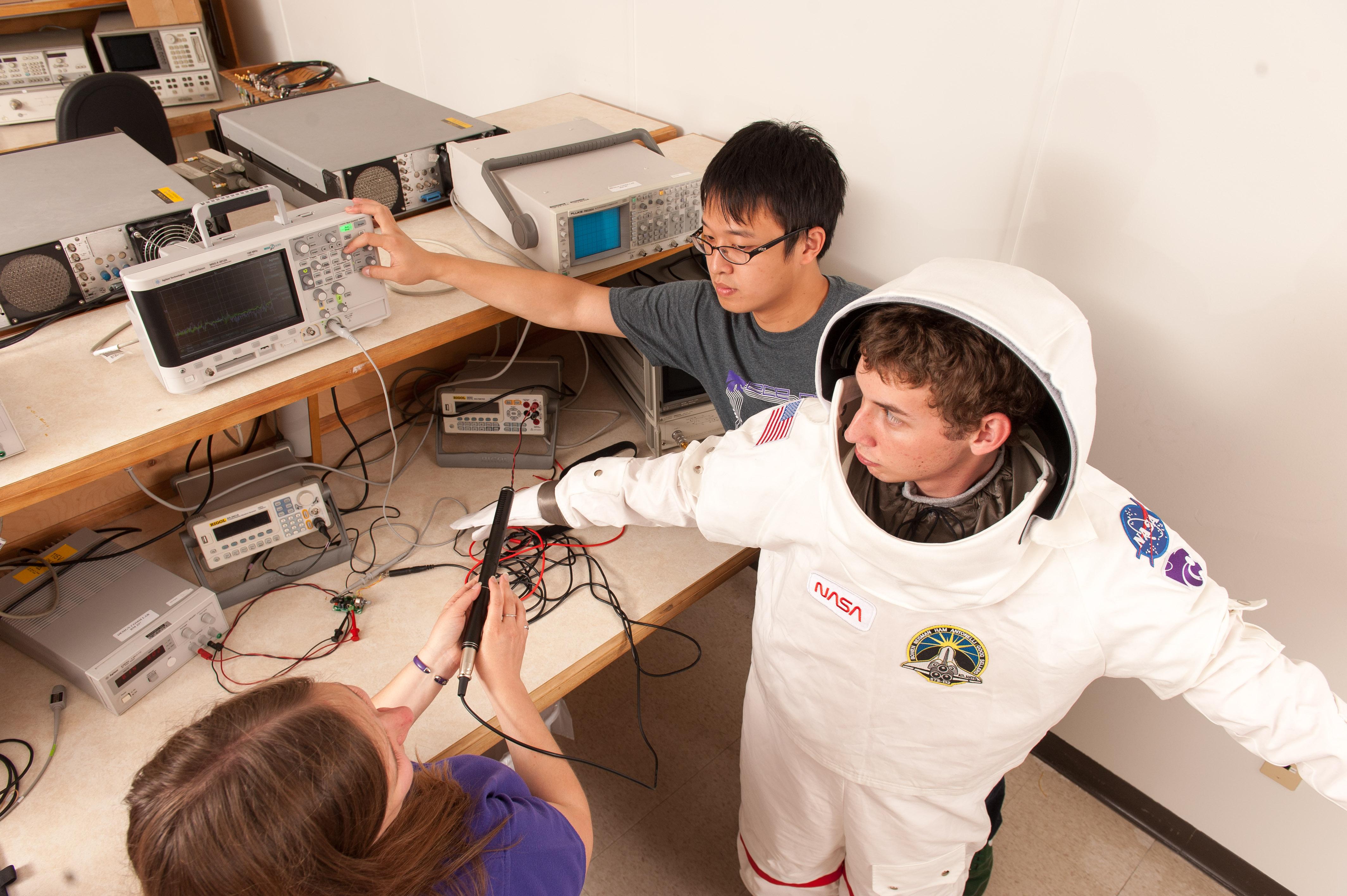 Engineers design spacesuit tools, biomedical sensors to ...