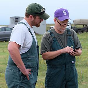 K-State veterinarians Drs. AJ Tarpoff and Bob Larson