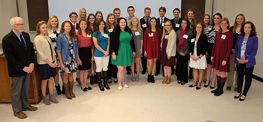 2017 class of Early Admission Scholars