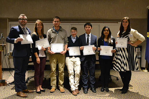 Winners of Kansas State University's annual Research and the State competition